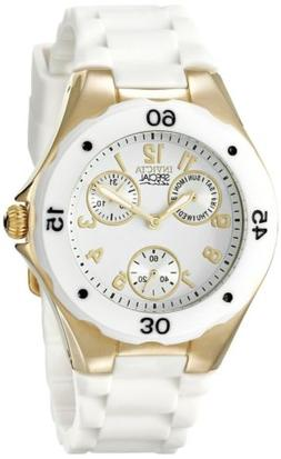 Invicta Women's 38mm Chronograph White Polyurethane flame fu