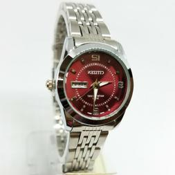 Citizen Battery Quartz Watch Women - Wine/Silver Metal Tone