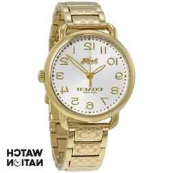 COACH DELANCEY ANALOG QUARTZ GOLD STAINLESS STEEL 14502496 W