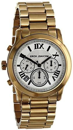 Michael Kors Cooper Gold-Tone Stainless Steel Chronograph Wo