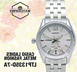 Casio Women's Dress Stainless Steel Silver Dial Watch LTP133