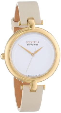 """Citizen Women's EM0252-06A """"Silhouette"""" Stainless Steel Eco-"""