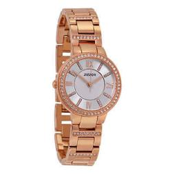 Fossil Women's Virginia Quartz Stainless Steel Dress Watch,