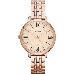 Fossil Women's ES3435 Jacqueline Rose Gold-Tone Stainless St