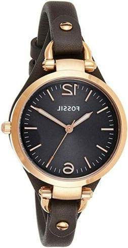 "Fossil Women's ES3565 ""Georgia"" Gold-Tone Stainless Steel Wa"