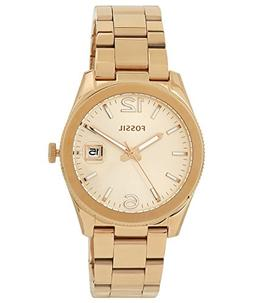 Fossil Women's ES3587 Perfect Boyfriend Rose Gold-Tone Stain