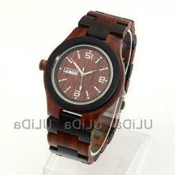 Exquisite Wooden Watches Quality Time And Day Week Men Wood
