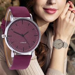 Fashion Leather Ladies Women Girl Unisex Stainless Steel Qua