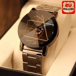 Fashion Luxury Men Women Compass Watch Stainless Steel Quart