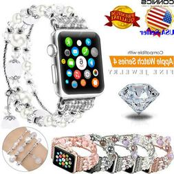 Fashion Women Girls Jewelry Beads Band Strap For Apple Watch