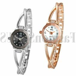 Fashion Women's Ladies Luxury Bracelet Rhinestone Dial Analo