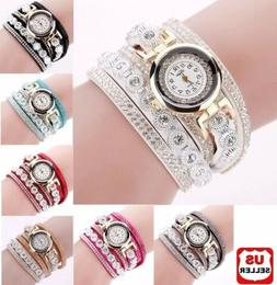 Fashion Women's Stainless Steel Bling Rhinestone Bracelet Wr