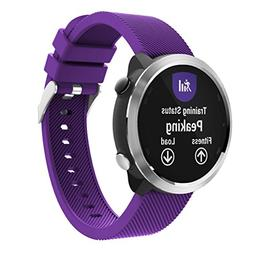 Outsta for Garmin Vivoactive 3 Watch Band, Silicone Replacem