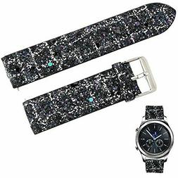 GEAR S3 REPLACEMENT WATCH BAND WOMEN 22MM QUICK RELEASE BLAC
