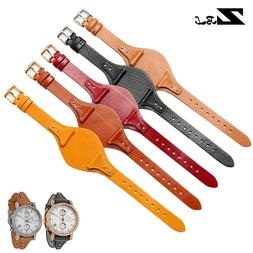 genuine leather bracelet red watchband for <font><b>fossil</