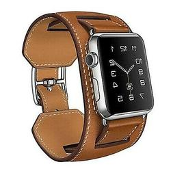 Genuine Leather Cuff Strap Apple Watch Band 38mm 42mm  iwatc