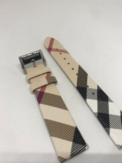 Burberry Genuine Leather Watch Strap Band Woman's 18mm B22