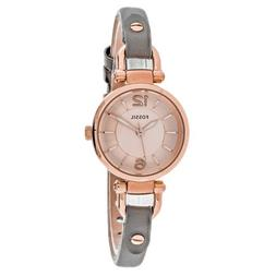 Fossil® Women's Georgia Watch In Rose Goldtone With Gray