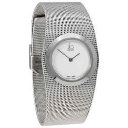 Calvin Klein Impulsive White Dial Steel Mesh Ladies Watch K3