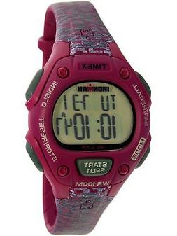 Timex Women's Ironman TW5M07600 Fuchsia Rubber Analog Quartz