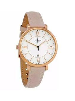 Fossil Jacqueline White Dial Womens Watch ES3988 Date Blush