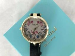 Kate Spade KSW1462 Women's Holland Black Leather Strap Watch