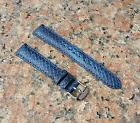 16mm Navy Blue Genuine Leather Python snake Emboss Watch Ban