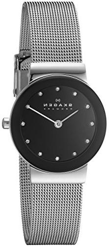 Skagen Women's 358SSSBD Freja Stainless Steel Mesh Watch