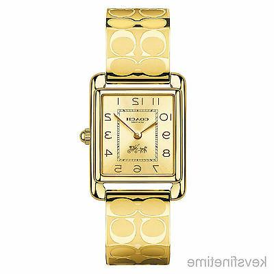 BRAND NEW COACH 14502160 PAGE GOLD STAINLESS STEEL ETCHED BA