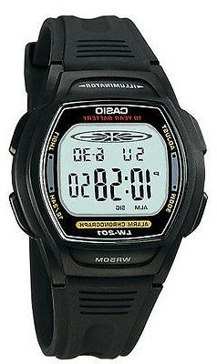 Casio Women's 10 Year Battery Watch, 50 Meter WR, Black Resi
