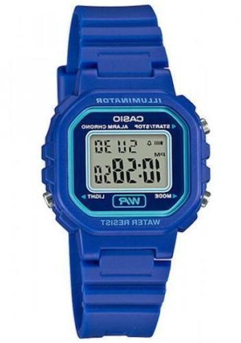 Casio Women's Classic Digital Quartz Resin Blue Watch LA-20W