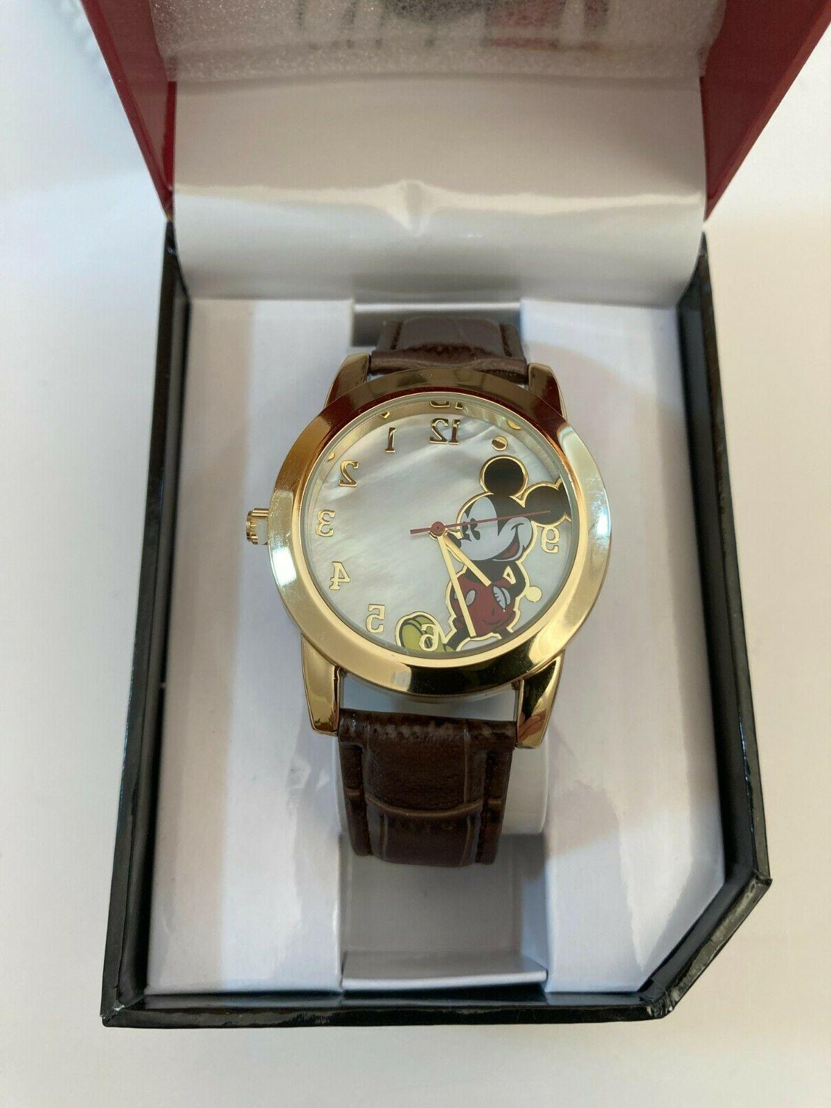 """Disney Mickey Mouse Women""""s Watch With Rhinestone And Multi-"""