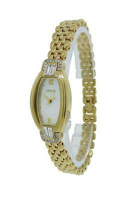 Elgin EG300 Women's Petite Analog Tonneau Mother of Pearl Cr