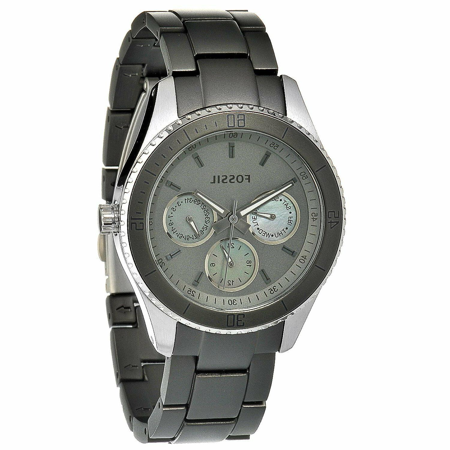 Fossil Women's ES3040 Stella Grey Aluminum and Stainless Ste
