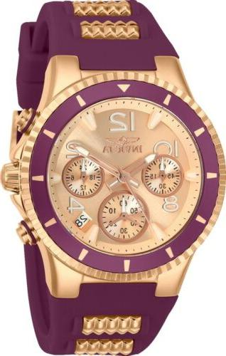 Invicta 24188 BLU Women's 39mm Rose-Tone Stainless Rose-Tone