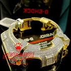 MEN'S WOMEN CUSTOM G-SHOCK BEZEL 14K YELLOW GOLD FINISH DIAM