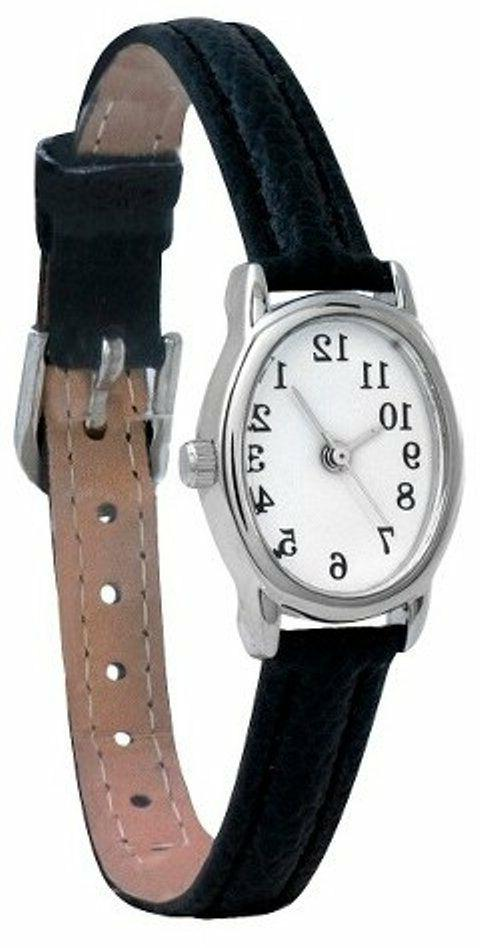 Merona Womens Watch With Oval Dial and Black Band
