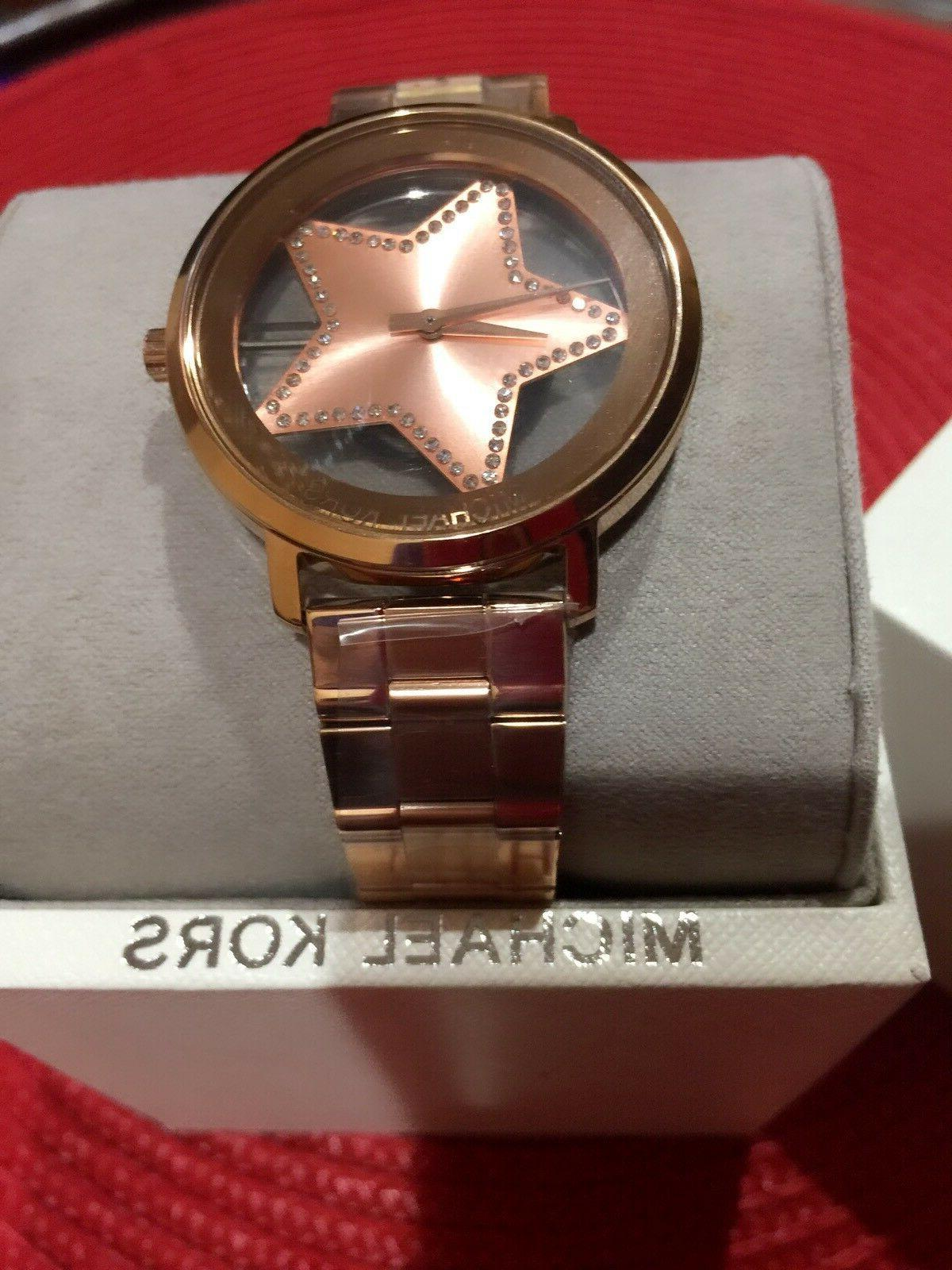Michael Kors MK3816 Womens Jaryn Stainless-steel Rose Gold T