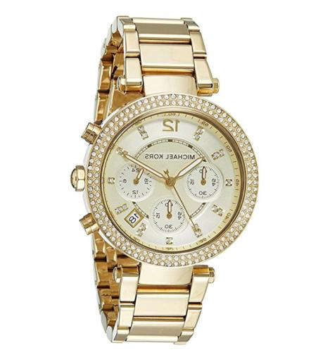 Michael Kors MK5354 Women's Parker Anaglog Display Gold Watc