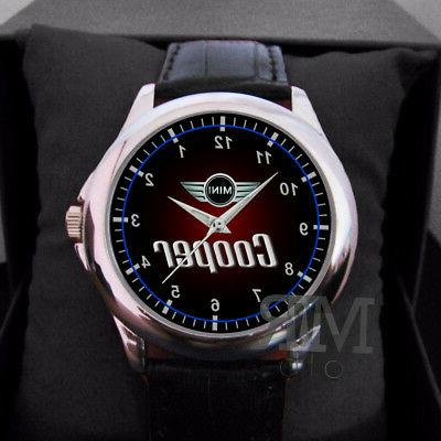 Mini Cooper custom Man or Women's Watch Wristwatch Leather B