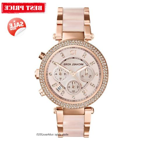 NEW Michael Kors Parker Ladies Women Watch MK5896 Rose Gold-