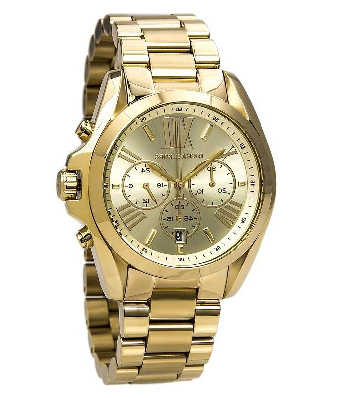 New Michael Kors Bradshaw Gold Chronograph Stainless Steel M
