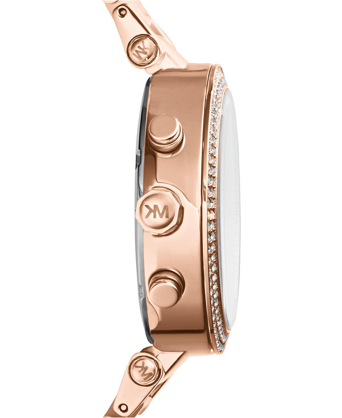 New Michael Kors Rose Gold Watch Women Blush Crystal