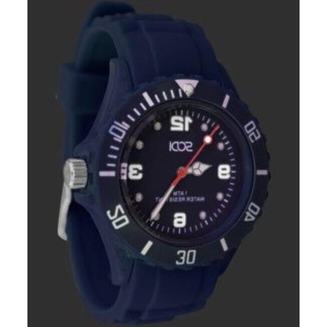 New Navy Blue Unisex Mens Womens Silicone Rubber Sports Watc