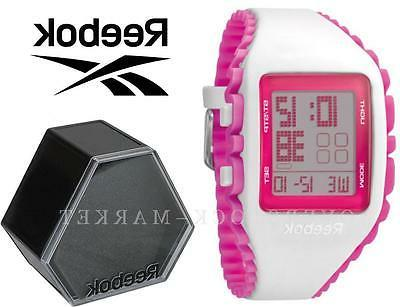 REEBOK RUBBER PINK  DIGITAL CHRONOGRAPH WATCH..NEW IN BOX