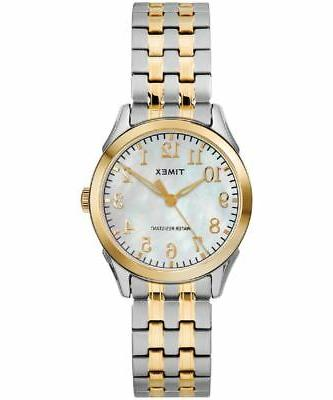 Timex TW2R48400, Women's 2-Tone Expansion Band Watch, Briarw