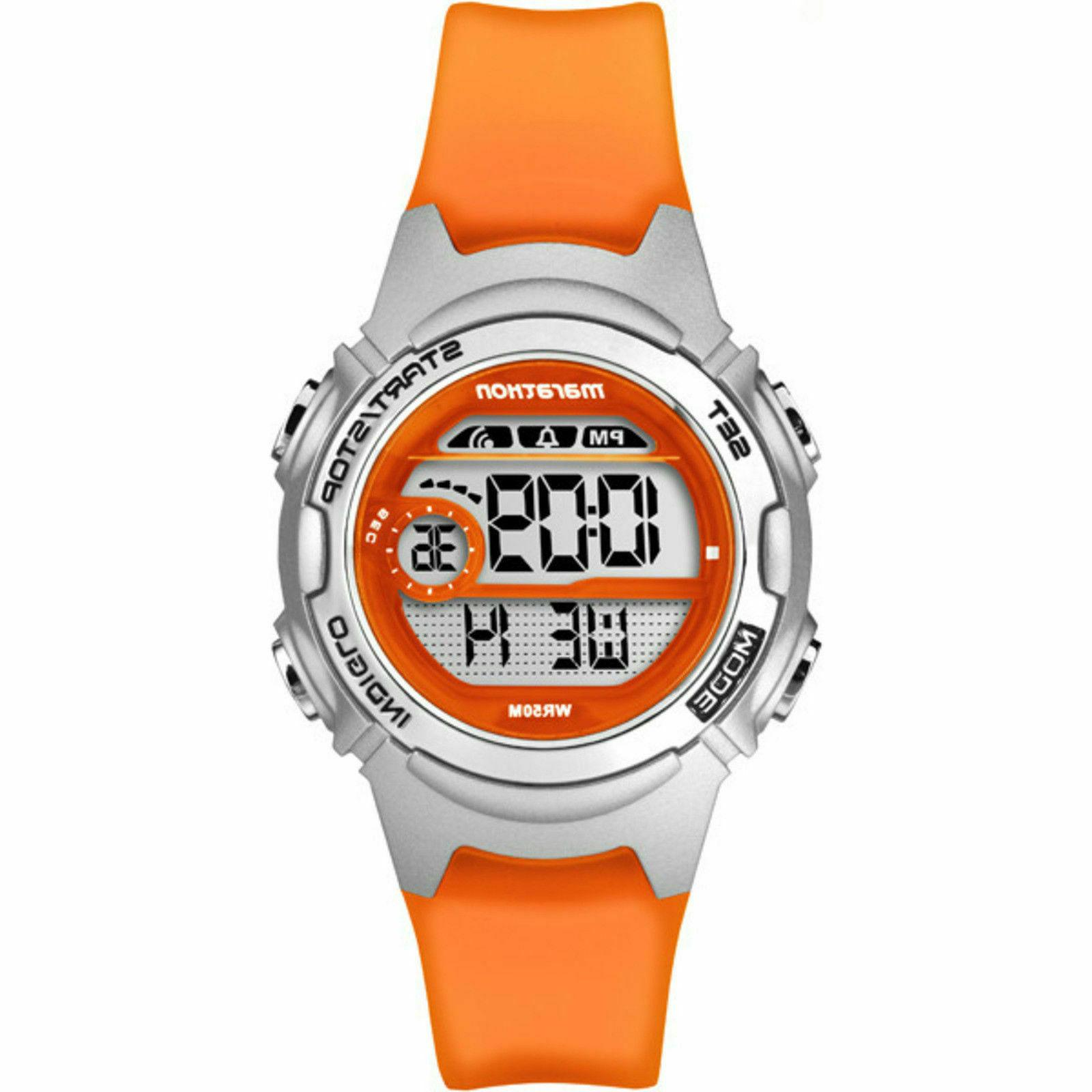 Timex TW5K96800, Women's Marathon Orange Resin Watch, Indigl