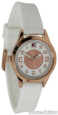 Tommy Hilfiger 1781114 White Dial Rubber Strap Women's Watch