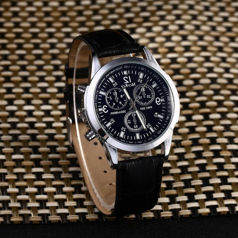 Women's Men Casual Quartz Leather Band Newv Strap Watch Anal