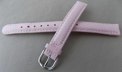 Womens Timex Pink Padded Genuine Leather LONG 12mm Watch Ban